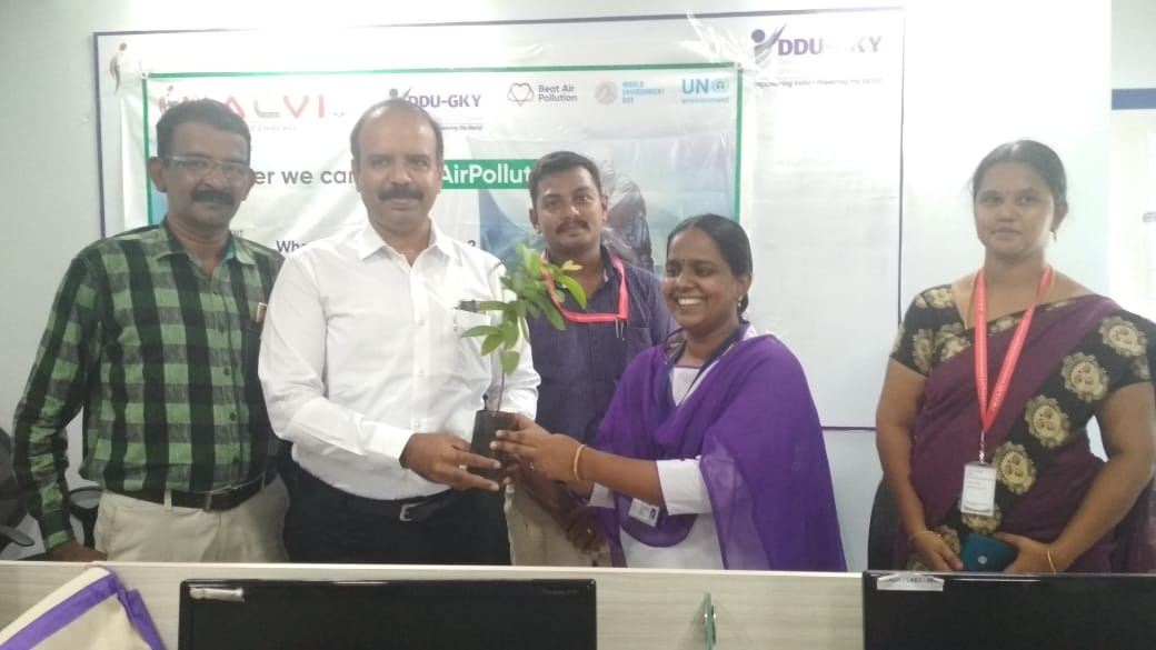 To observe World Environment day by kalvi trust